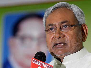 JD(U) leader Nitish Kumar. PTI