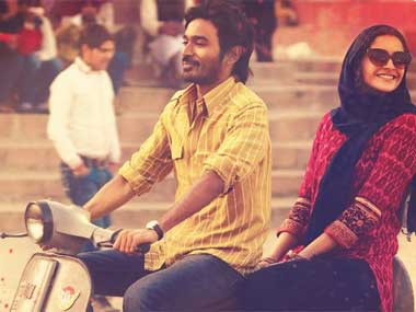 Dhanush and Sonam Kapoor in a still from the film. Image courtesy: Facebook