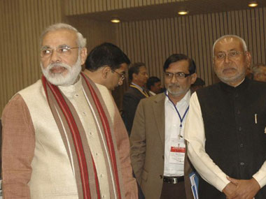 Narendra Modi and Nitish Kumar. AFP.