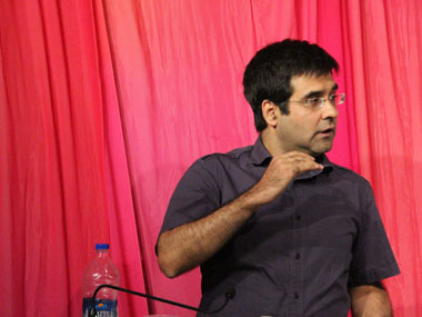 Actor Mukul Chaddha at the first show of Tall Tales.