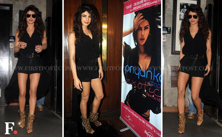 Actor Priyanka Chopra launches the video of her second single number Exotic on Friday in Mumbai. Sachin Gokhale/Firstpost