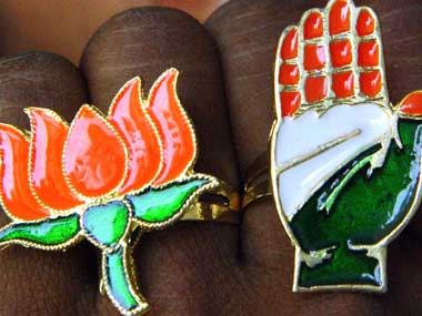 BJP, Congress are seen in this file photo. Reuters