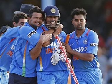 Dhoni, once again, led India to a thrilling win. AP