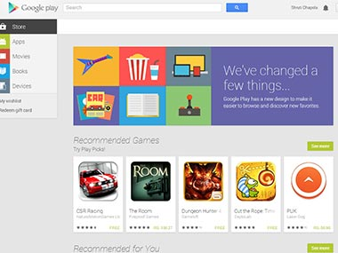 The new Google Play Store. Screengrab.