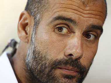 File photo of Bayern Munich's coach Pep Guardiola. Reuters