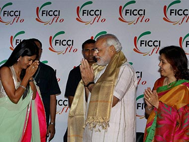 Modi at a FICCI conference this year: PTI