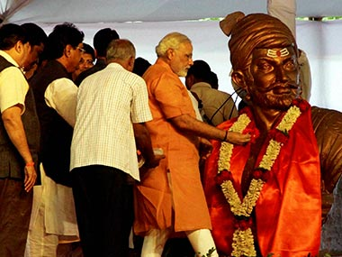 Gujarat Chief Minister Narendra Modi at a function at Fergusson College in Pune. PTI