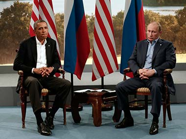 US President Barack Obama and his Russian counterpart Vladimir Putin. Reuters