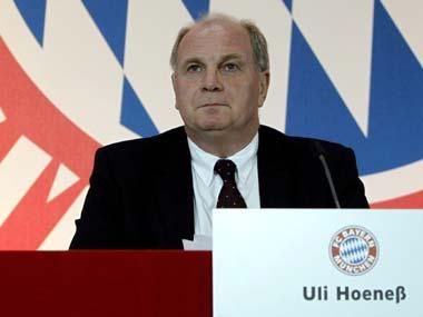 File image of Bayern Munich president Uli Hoeness. AP