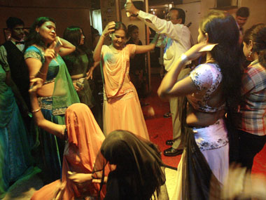 Dancers in a Mumbai bar. Reuters.
