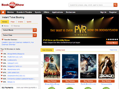 Screengrab of Bookmyshow.
