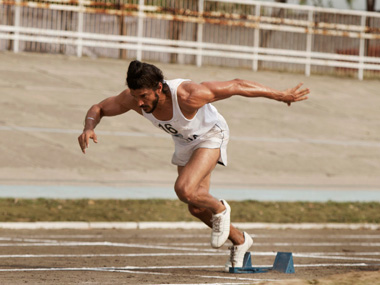 A still from the film, Bhaag Milkha Bhaag
