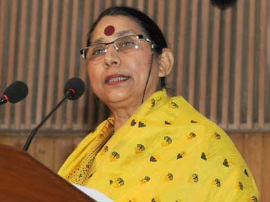 Women and Child Development Minister Krishna Tirath. Image courtesy PIB