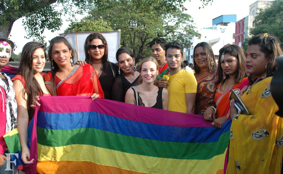 Members of the LGBT community at the Chennai Pride Rally. Firstpost.