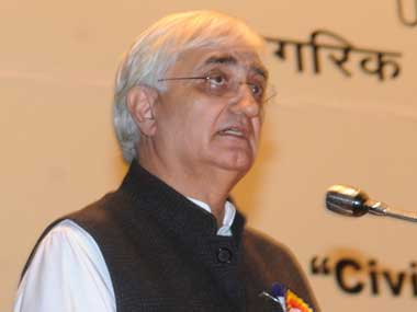 Union External Affairs Minister Salman Khurshid. Image courtesy PIB