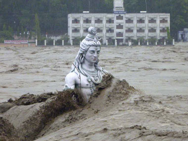 The Uttarakhand floods. AFP.