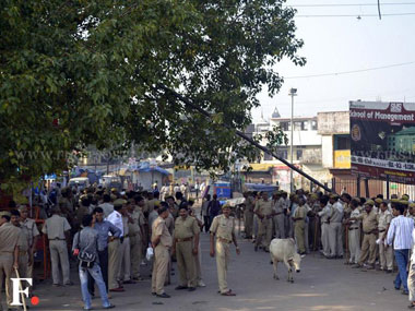 Police deployed in Ayodhya on Sunday. Danish Raza/ Firstpost