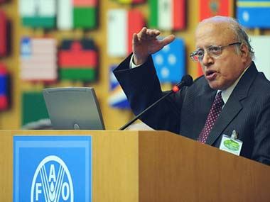 File image of MS Swaminathan. AFP