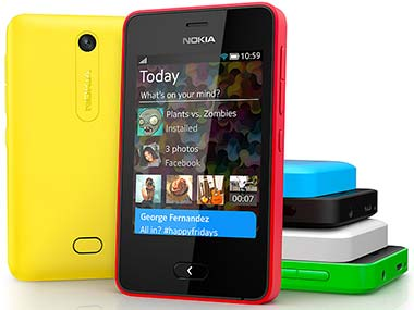Nokia Asha 501 is seen in this file photo.