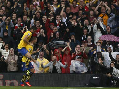 Giroud and Podolski were on target for Arsenal. Reuters
