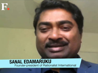 Edamaruku says anti-superstition activists often face persecution. Screengrab from interview