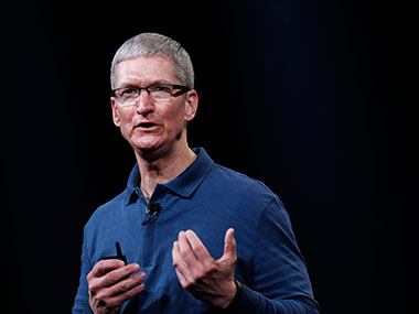 Tim Cook is seen in this file photo. Reuters