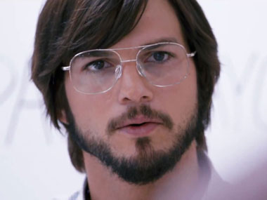 Ashton Kutcher as the late co-founder of Apple in 'Jobs'. IBN Live.