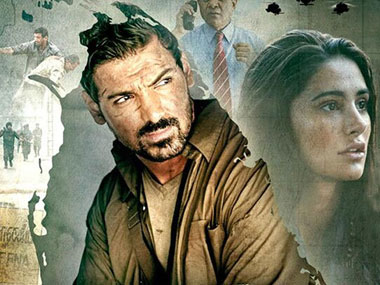 The poster for Madras Cafe