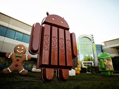 The new Android KitKat statue: Google Plus