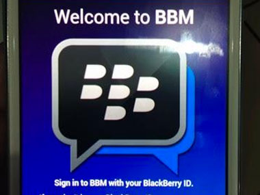 A leaked image of the BBM app page on Google Play