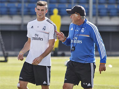 Carlo Ancelotti and Bale (Real Madrid Instagram).