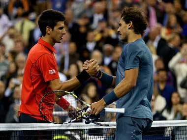 Rafael Nadal beat Novak Djokovic in the French Open and the US Open. Getty Images