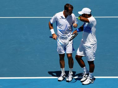 Paes and Stepank shocked the Bryan brothers in the semis. Getty