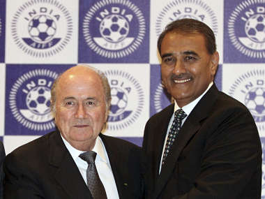 Praful Patel needs to do more than just shake hands with Sepp Blatter. Reuters