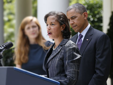 Susan Rice with Barack Obama. Reuters.