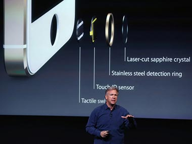 Apple Senior Vice President of Worldwide Marketing Phil Schiller speaks about security features of the new iPhone 5s. AFP