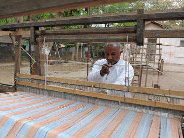 This image of a khadi weaver has been used for representational purposes only. AFP.
