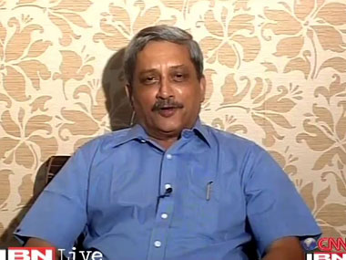 File image of Manohar Parrikar. CNN-IBN