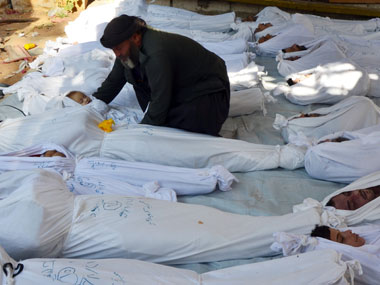 Victims of the chemical attack in Syria. Agencies.