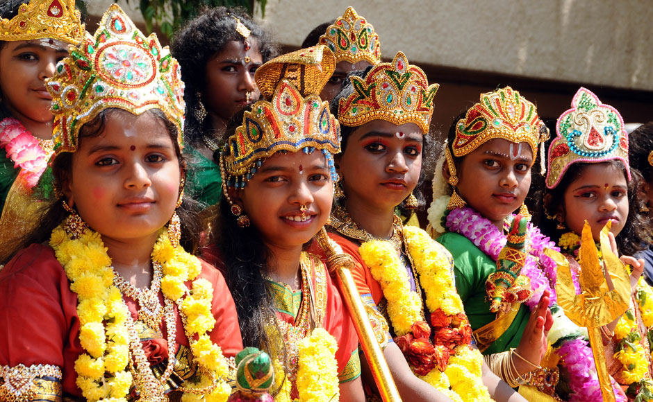 Print :Photos: Children celebrate Durga Puja by dressing up as the ...