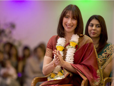 Samantha Cameron's sari entry was a way to make sure all differences were truly ironed out and the conversation firmly changed. Reuters