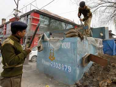 File image of bunker construction in Jammu and Kashmir. Reuters