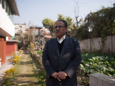 File image of Prachanda. AFP