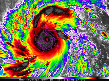 Typhoon Haiyan is pictured in this NOAA satellite handout image. Reuters/NOAA