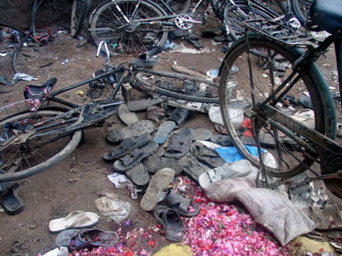 A file photo of the Malegaon blast. AFP