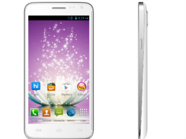 Micromax Canvas Blaze in this product photo.