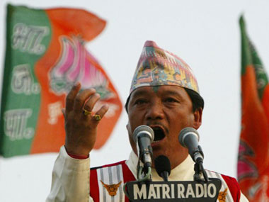 File image of Bimal Gurung. AFP