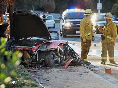 The car accident that killed Walker. AP