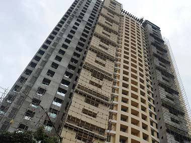 The controversial building in south Mumbai. AFP