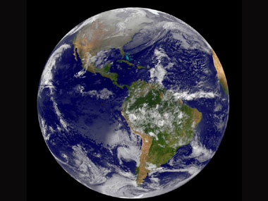 An image of the Earth from outer space. AFP/Nasa